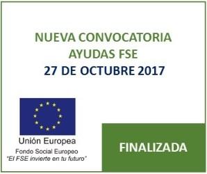 NUEVA CONVOCATORIA AYUDAS FSE 2017